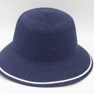 [Paper cloth home] two-color fisherman hat (dark blue) paper weave