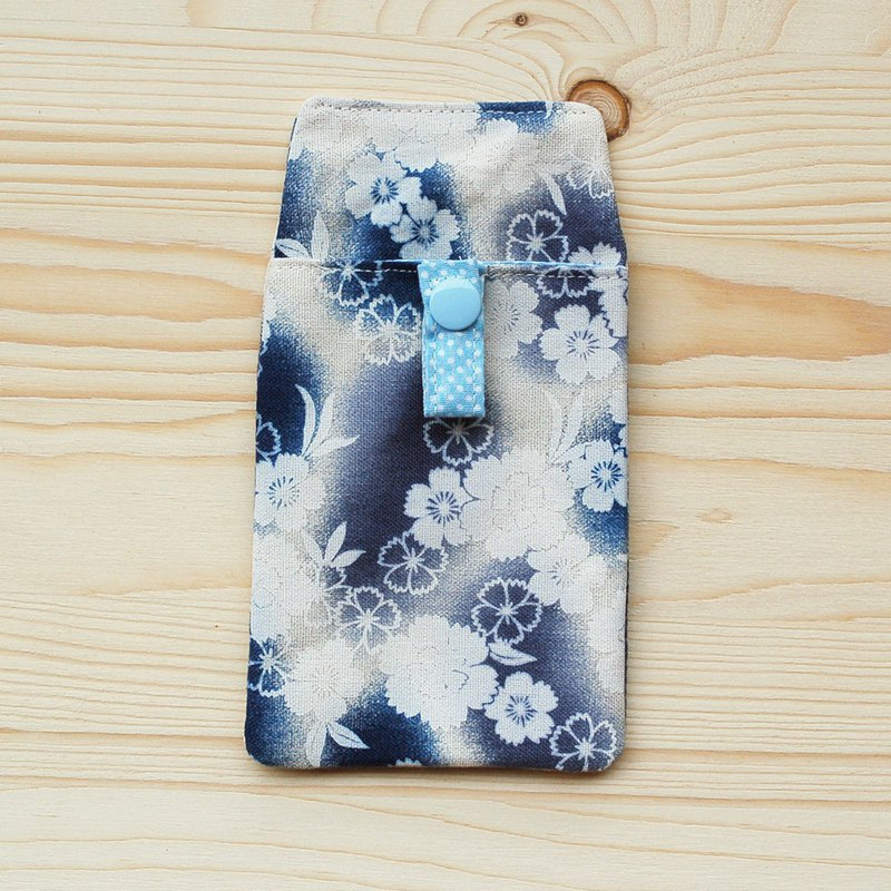 Gradual cherry blossom pocket pencil case / attached bag