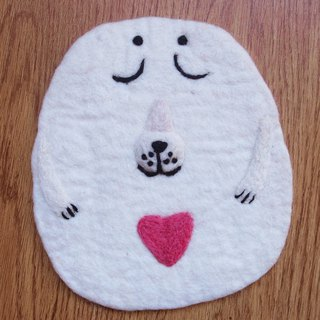 Potholder, Trivet, Pan Coaster, Pot holder, Felt Trivet Animal Dog