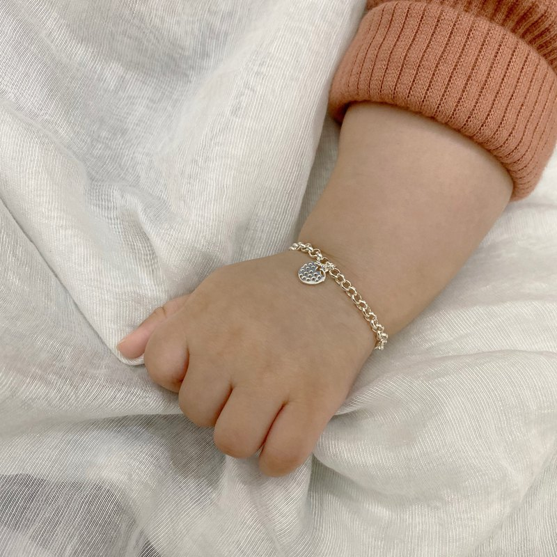Because of you - sterling silver bracelet / child