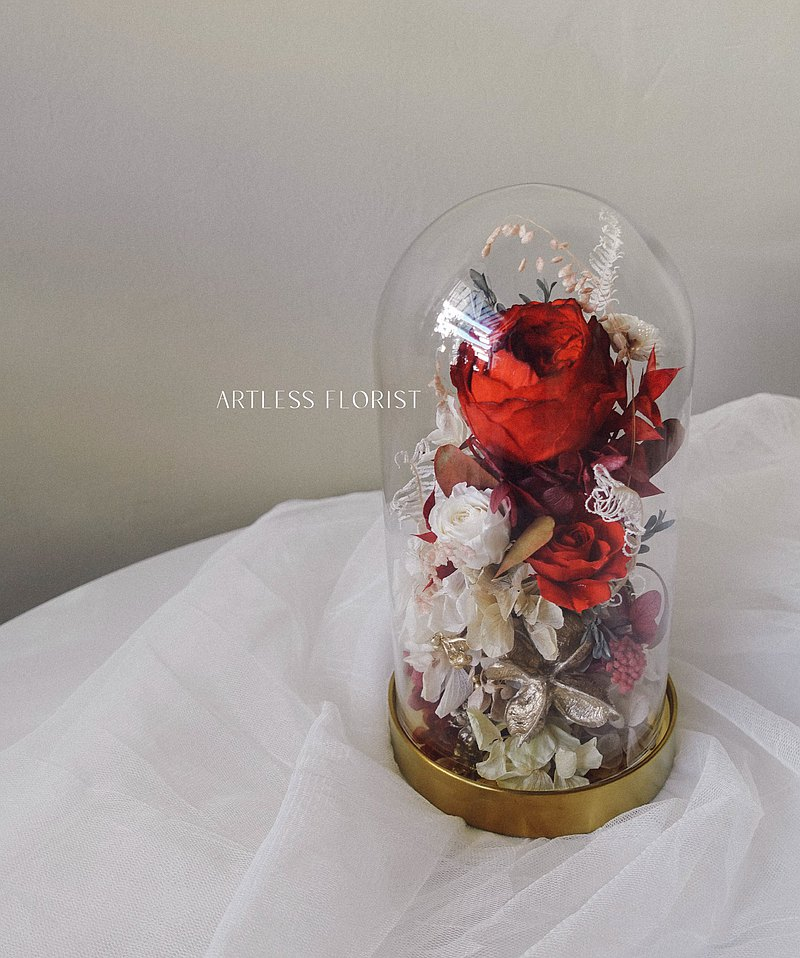 Red Flame Red Immortal Glass Flower Cup