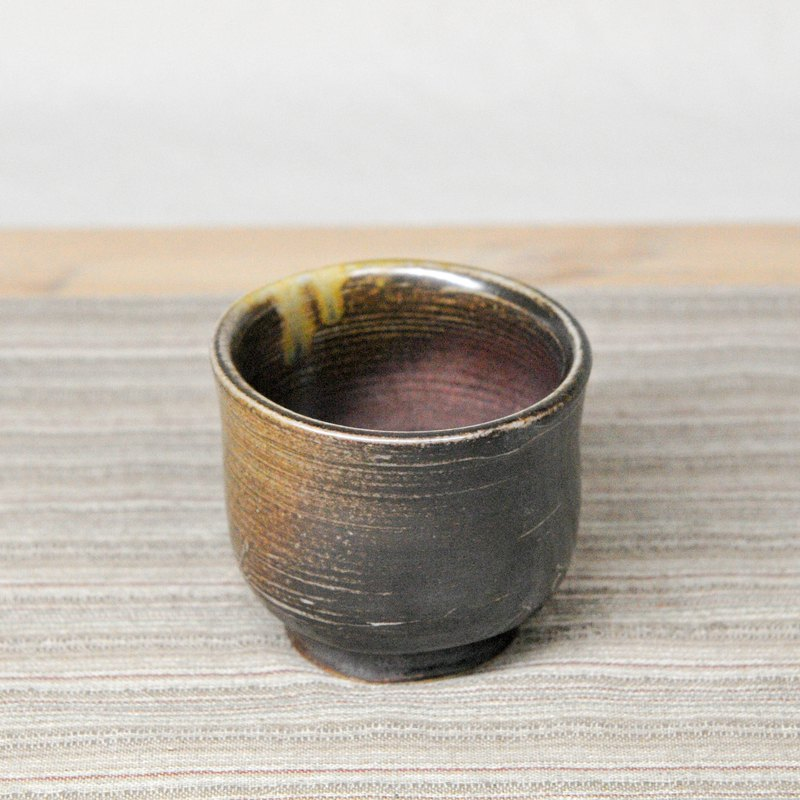 Wood burning pottery hand made. Chai burning pottery cup
