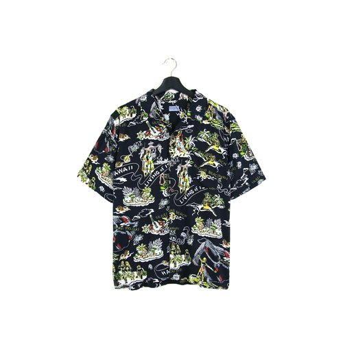 Back to Green:: 風情 //男女皆可穿// vintage Hawaii Shirts (H-39)