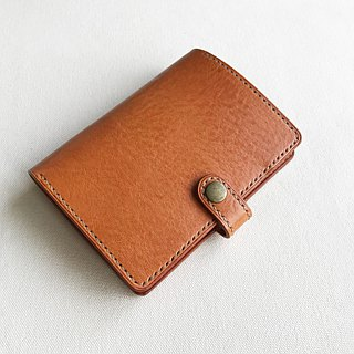Toscana Leather Passport Holder Toffee / Custom Gift Travel