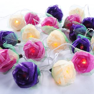 20 Handmade Real leaf Rose String Lights for Home Decoration Wedding Party Bedroom Patio and Decoration