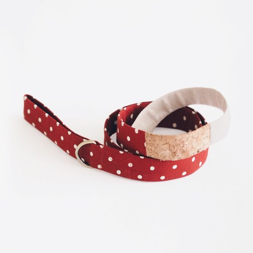 Orange Polka Dot Corkboard Mix Leash | For Dogs