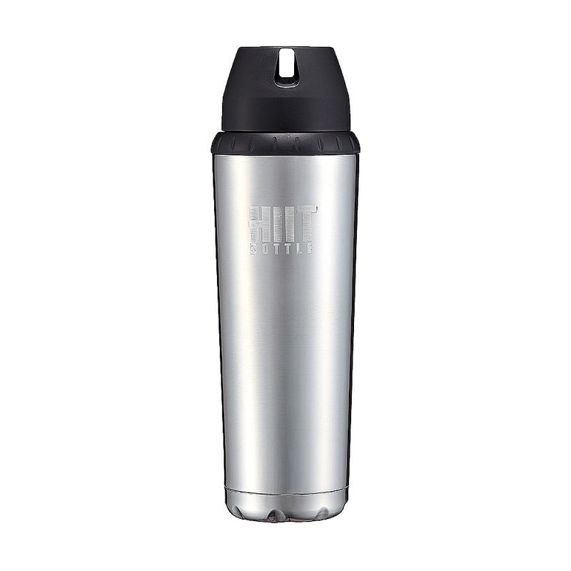 American HIIT BOTTLE Extreme Fitness Water Bottle / Lite Edition / Silver / 709ml