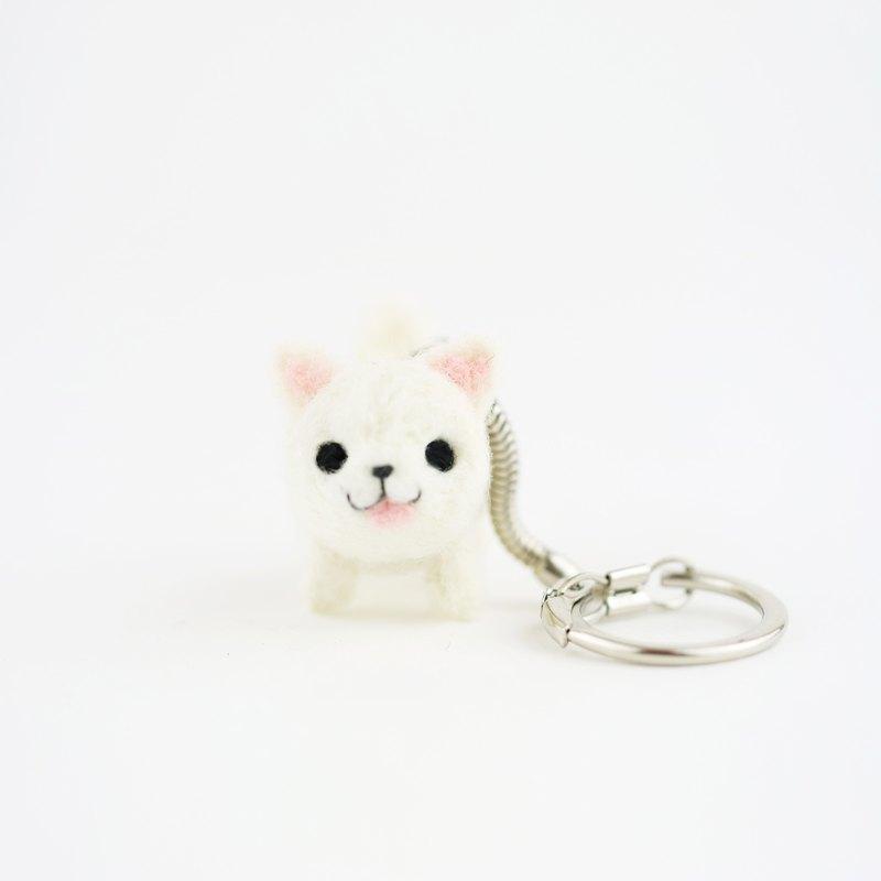 [出門遛遛系列] 狗狗鑰匙圈-博美