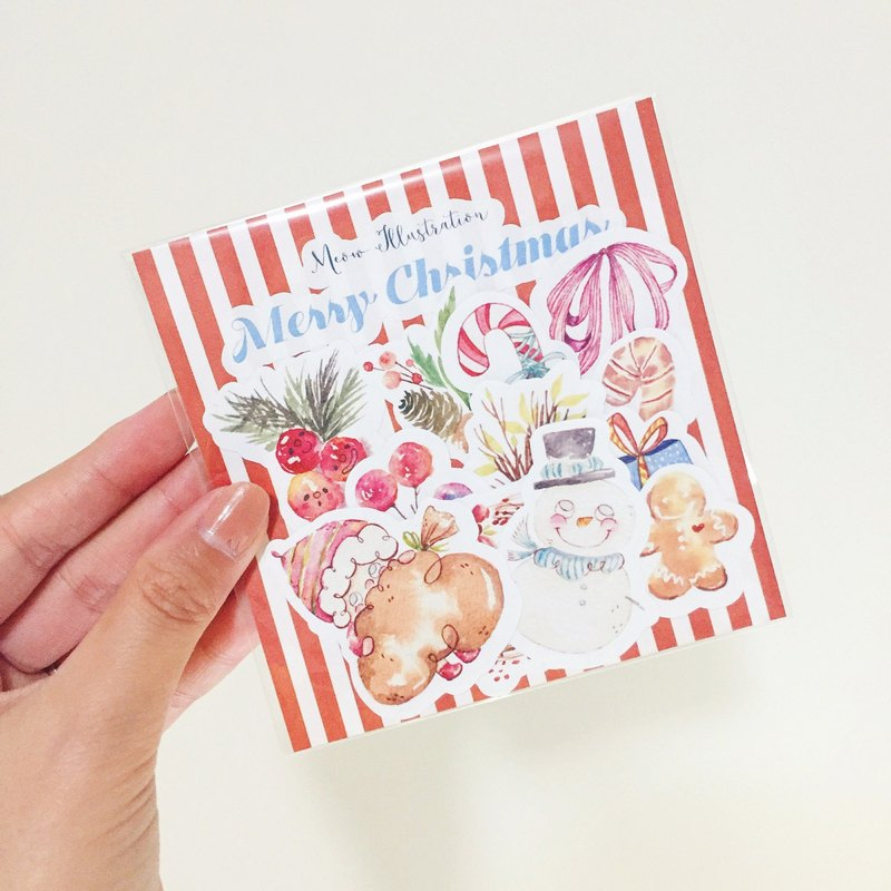 Watercolor Christmas Sticker Set (WT-017)
