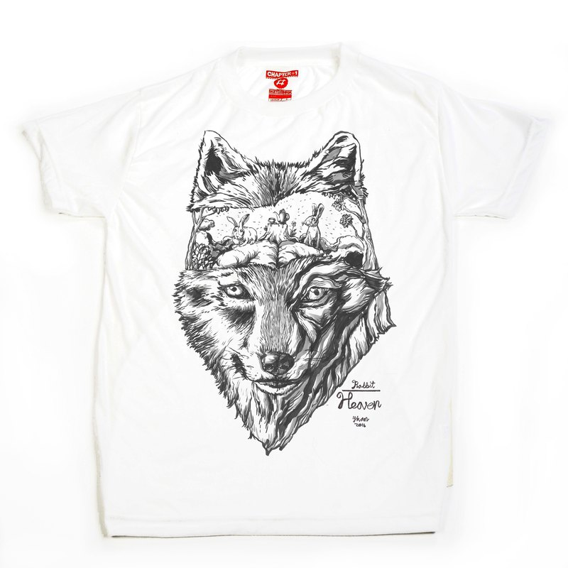 Wolf unisex men woman cotton mix Chapter One T-shirt