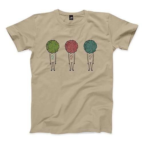 Thin organ people - khaki - Unisex T-Shirt