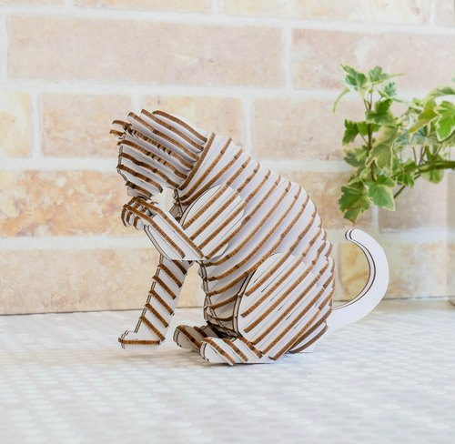 SORRY CAT Cat Series 3D Handmade DIY Home Decoration White