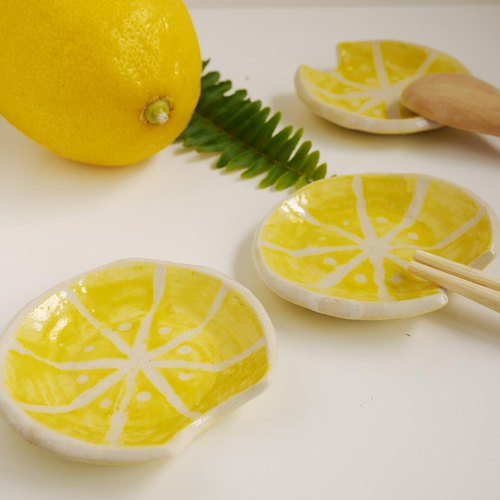 果物箸置【檸檬】/ cutlery rest of fruits【lemon】