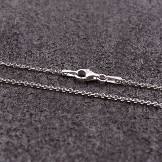 925 sterling silver necklace single chain clavicle chain 16 inches