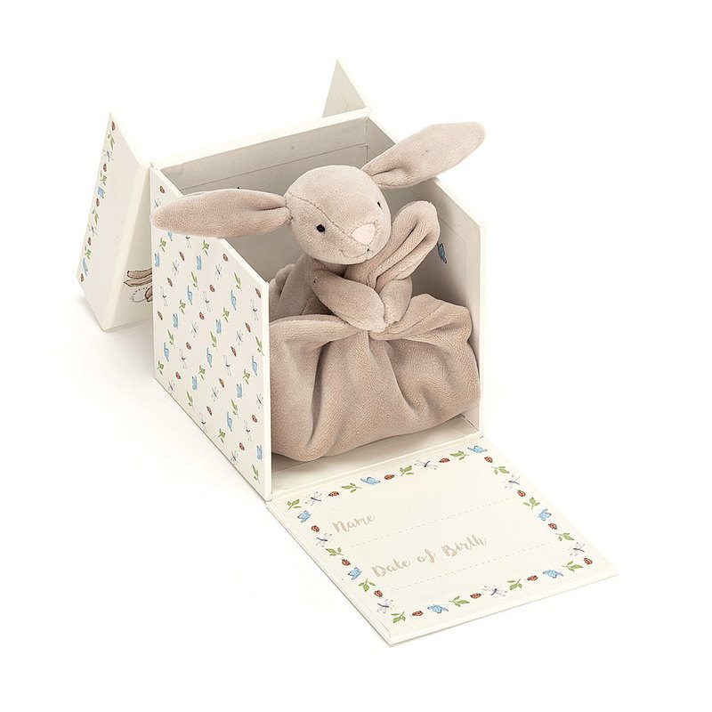 Jellycat My First Beige Bunny Soother 寶寶的第一條安撫巾禮盒