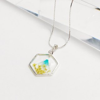 Canola Mount Fuji (Pressed Flower Necklace)