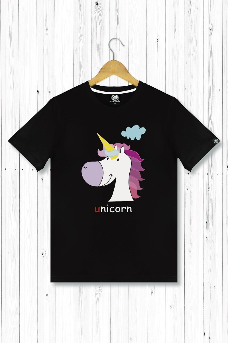 STATELYWORK Dream Unicorn - male black T-shirt