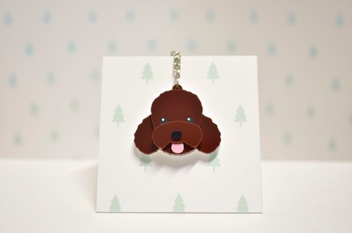 Red (coffee) Poodle - key ring - Pets - Gross child - a gift - Customized -BU