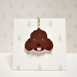 Red (Coffee) Poodle - Key Ring Acrylic