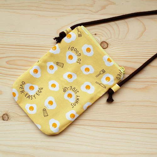 Delicious poached mobile phone bag _ yellow