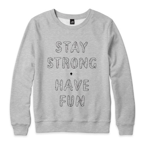 STAY STRONG, HAVE FUN - Deep Heather Grey - neutral version of the University of T