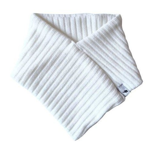 Elegant white wool scarf (with saliva towel for winter)