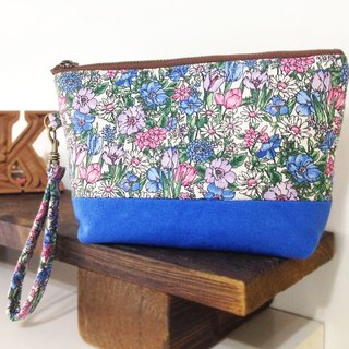 Flower World Cosmetic bag (with detachable buckle) YKK zipper / hand-held storage bag Universal debris bag