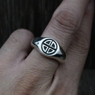 [Time Wheel Ring] 925 sterling silver ring (can be used as ring / tail ring / cross / geometry / lucky grass)