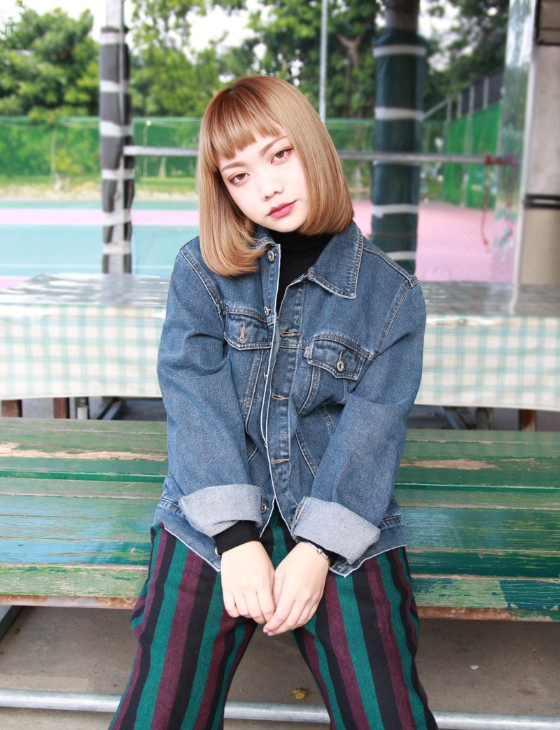 Back to Green:: BIG CHIEH四口袋 vintage denim (DJ-13)
