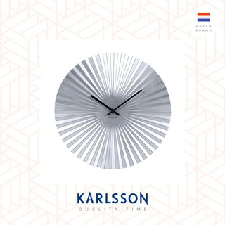 荷蘭Karlsson Wall clock Sensu steel silver 銀色放射設計掛鐘
