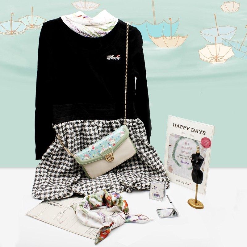 """【週年慶Goody Bag】- """"優雅的蓬蓬裙+清雅絲巾+手提斜揹鏈條包"""