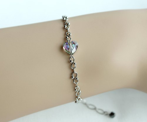 Color heart Swarovski Crystal Bracelet