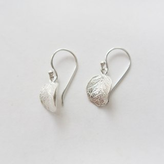 Exclusive Forest Department 925 sterling silver small leaf earrings pair