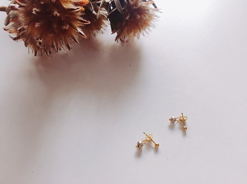 Gold plated silver ball earrings
