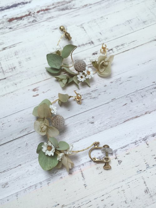Spring Spring Designer's Fat - Dry Flower Earrings, Earrings, Ear Clips, Ear Hooks, Ear Pins