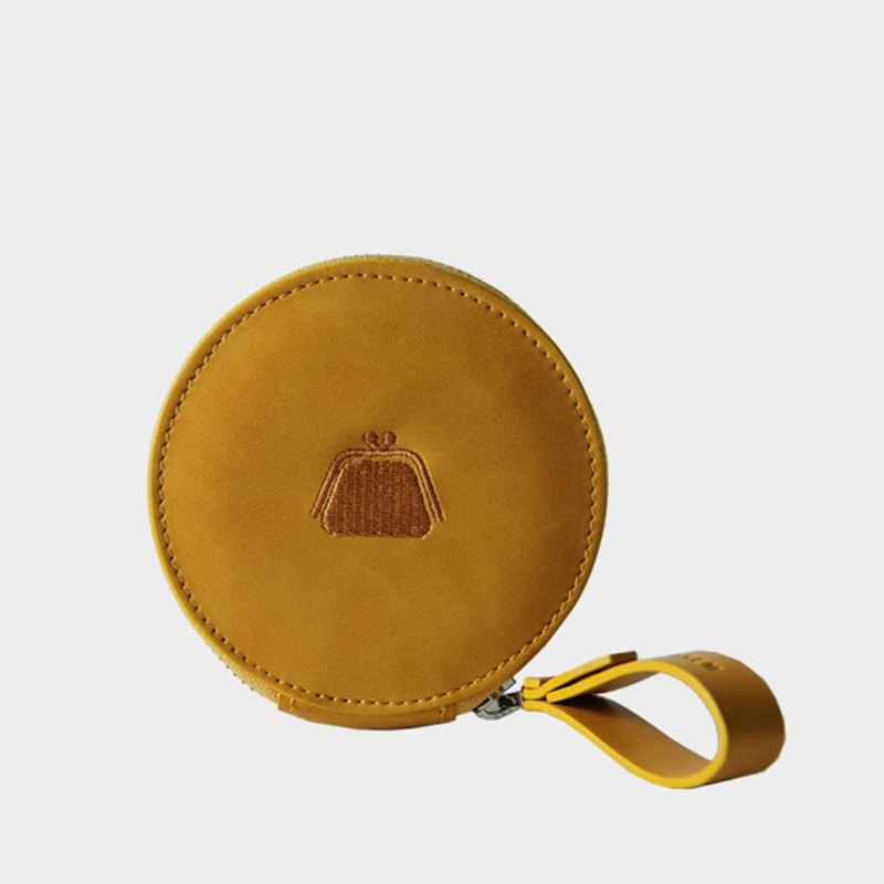 Circle Wallet Wallet with yellow circular coin purse
