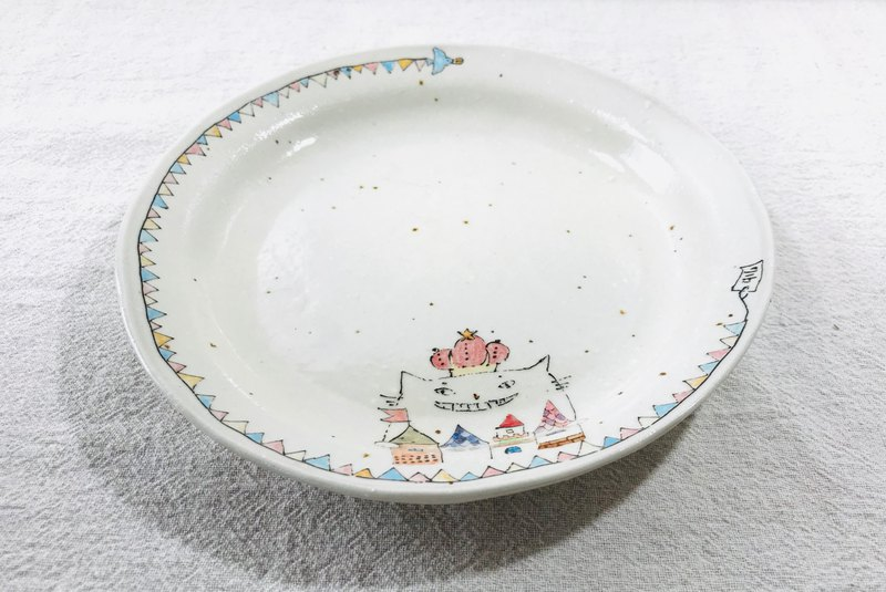 Plate designed king of cat's .