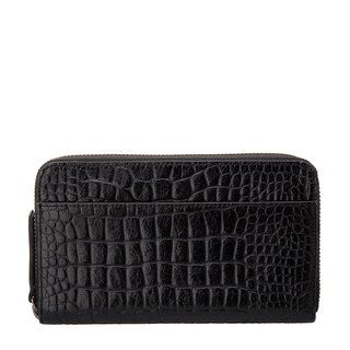 DELILAH Clutch_Black Croc Emboss / Black Crocodile Embossed