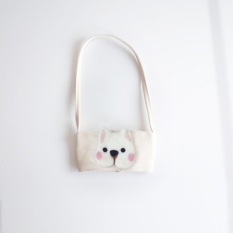 [Q-cute] hollow drink bag series - small cup dog head