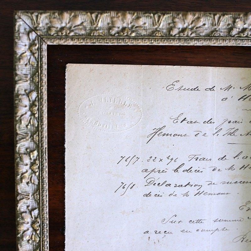 French 19th Century Antique Handwritten Document No.2