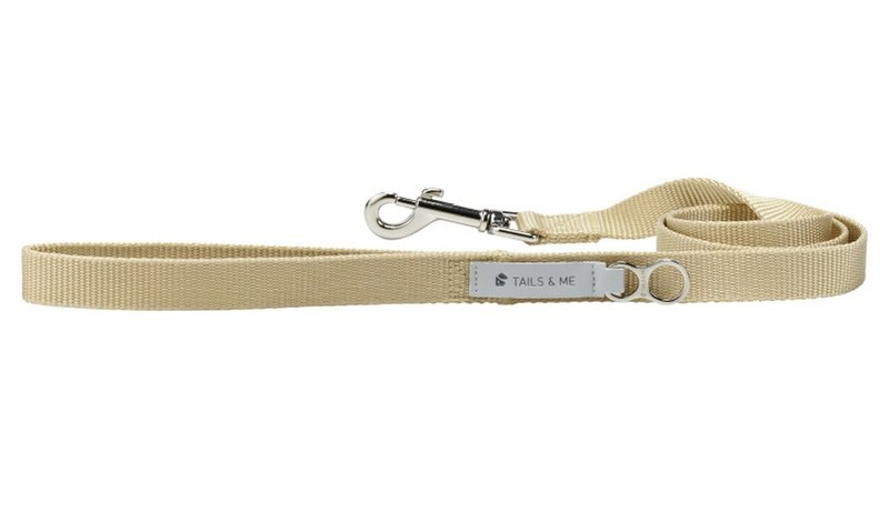 [Tail and me] Classic nylon belt leash khaki S