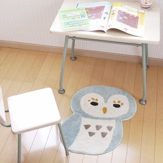 ☆ round rolling owl mat ☆ (brown)