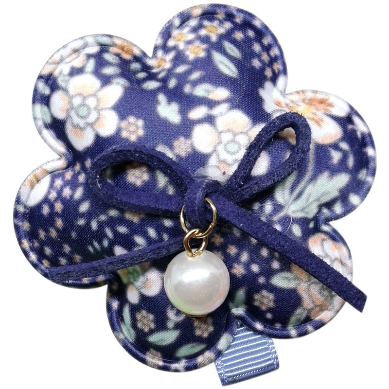 Pearl Country Flower Hair Clips All Inclusive Handmade Hair Accessories Country Pearl Flower-Indigo