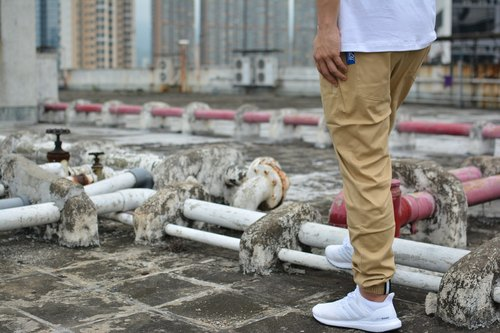 GO OFF JOGGER PANTS- elastic strands mouth pants khaki