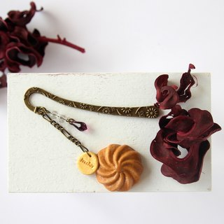 Coffee Cream  Swirl Shortbread Cookies Bookmark