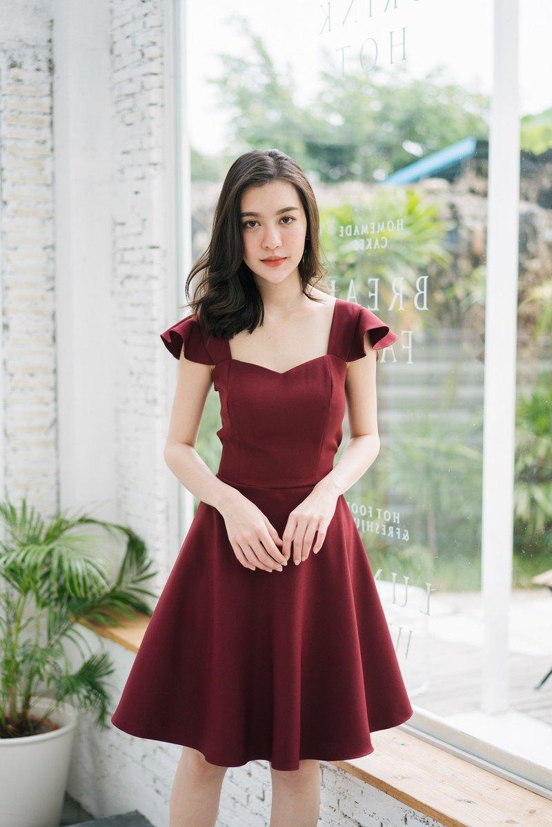 c39afa6ee5 Wedding Dress Maroon dress Red Prom Dress Summer Dress Vintage Party Dress  - Designer ameliadress