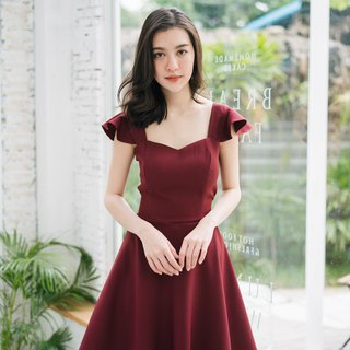 Wedding Dress Maroon dress Red Prom Dress Summer Dress Vintage Party Dress