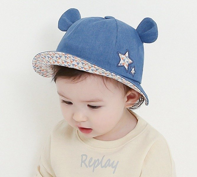 Happy Prince Lemon Bear Baby Cotton Sun Hat Made in Korea