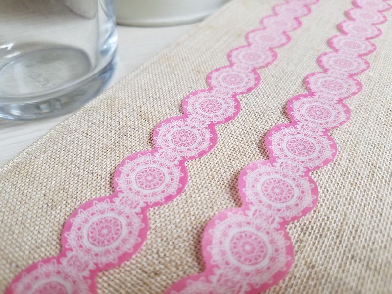 [TooL] Curved paper tape ‧ Lace Pink Lace Pink / GTIN : 4713077972960
