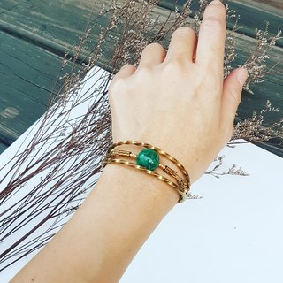 Copper hand made bracelet _ malachite ore copper active bracelet